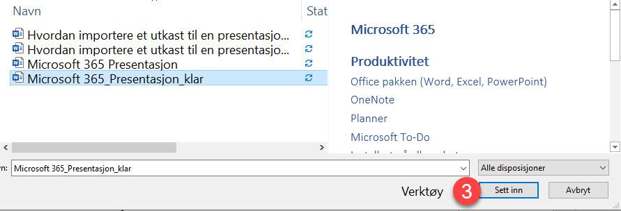Hvordan lage utkast til en ferdig Powerpoint presentasjon i Word 10