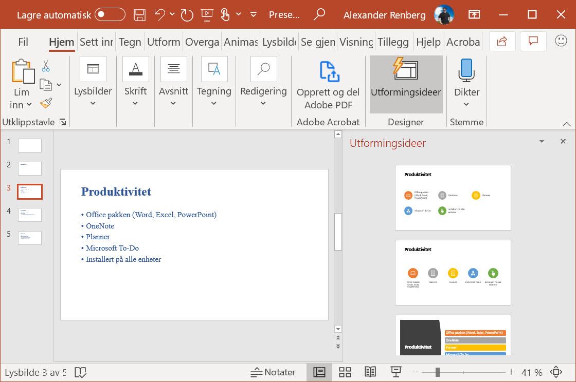 Hvordan lage utkast til en ferdig Powerpoint presentasjon i Word 11