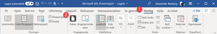 Hvordan lage utkast til en ferdig Powerpoint presentasjon i Word 2