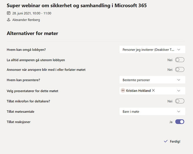 Hvordan lage webinar i Microsoft Teams 24