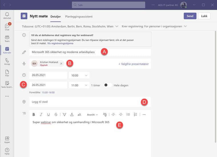 Hvordan lage webinar i Microsoft Teams 4