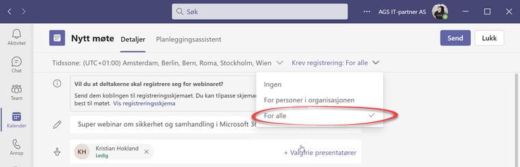 Hvordan lage webinar i Microsoft Teams 7