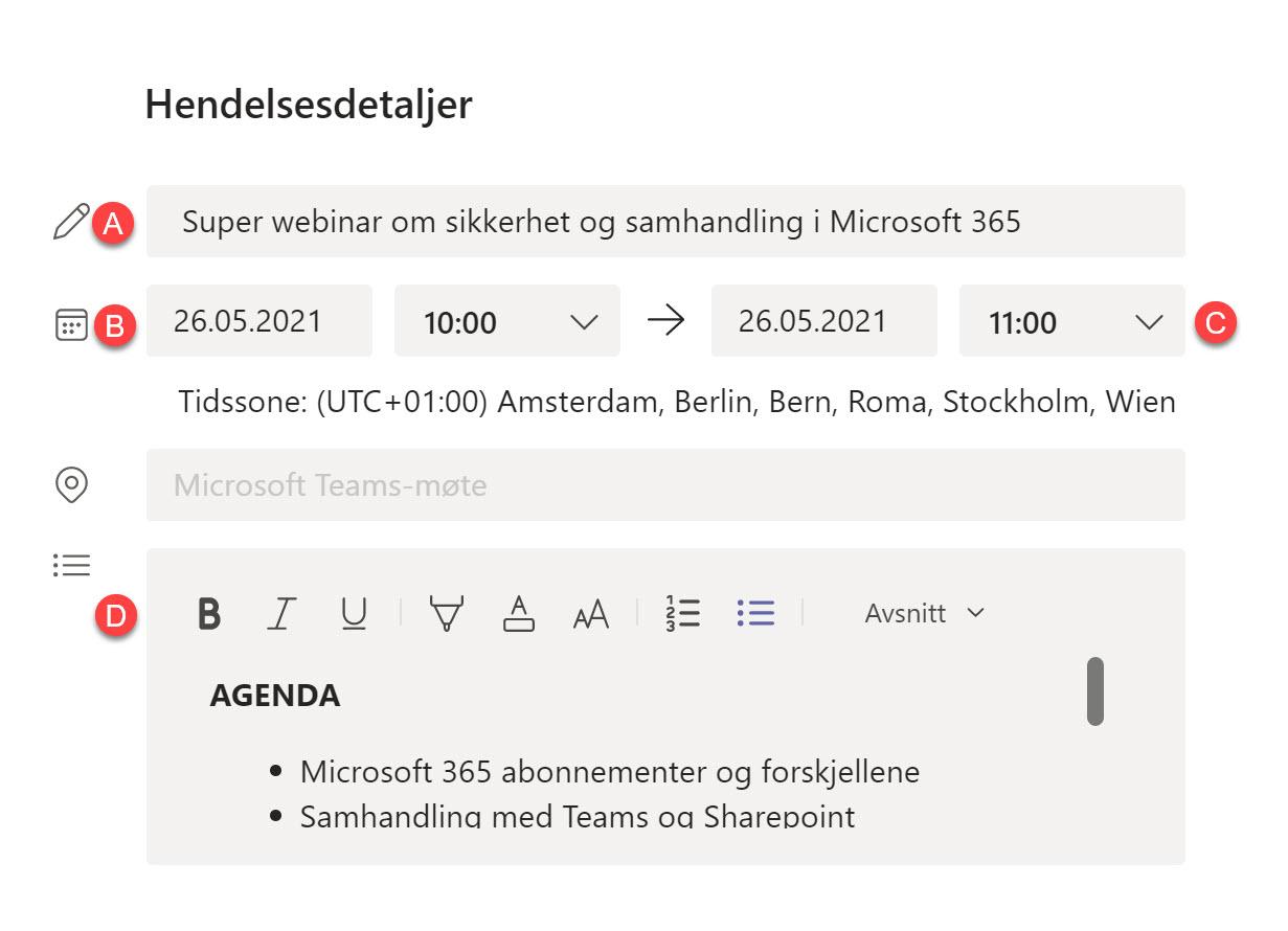 Hvordan lage webinar i Microsoft Teams 8