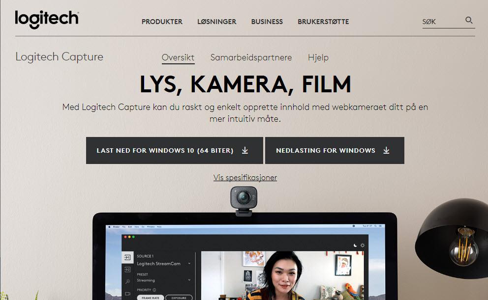 Hvordan lage webinar-løsning og streame med Logitech Capture GRATIS 1