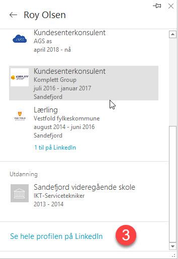 Hvordan se linkedin profiler i Outlook 4