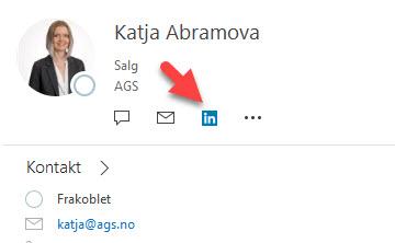 Hvordan se linkedin profiler i Outlook 6