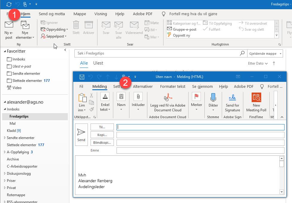 Hvordan sende en kryptert post i Office 365 1