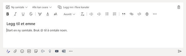 Hvordan sende en melding samtidig i flere kanaler på Microsoft Teams 3