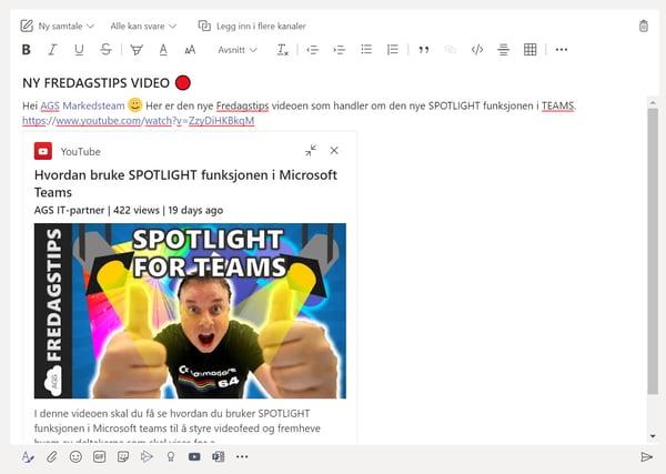 Hvordan sende en melding samtidig i flere kanaler på Microsoft Teams 4