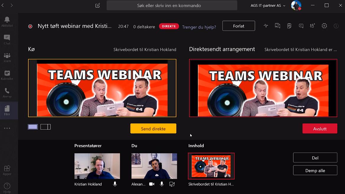 Hvordan sette opp Live Event og Webinar med Microsoft Teams  010