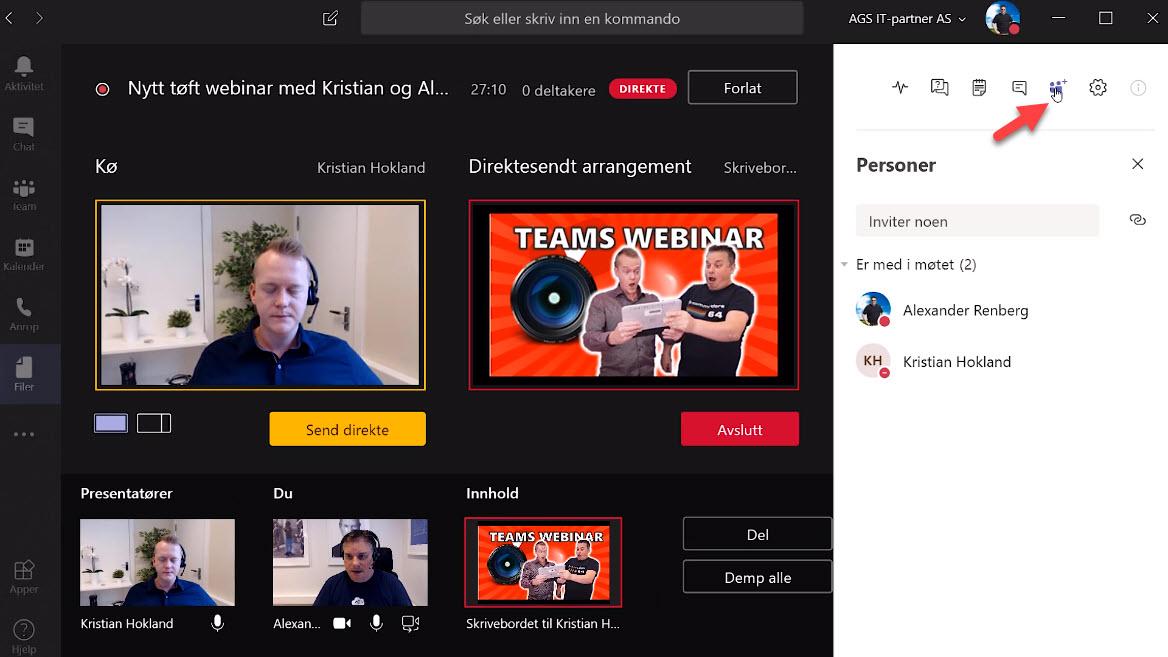Hvordan sette opp Live Event og Webinar med Microsoft Teams  013