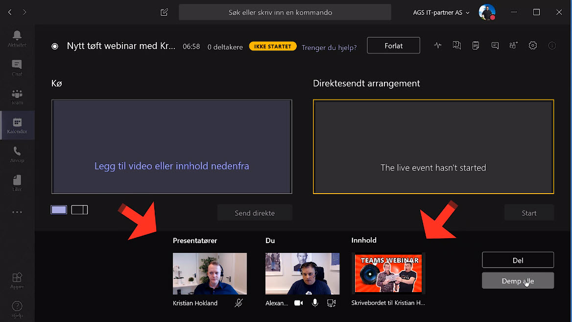 Hvordan sette opp Live Event og Webinar med Microsoft Teams 06