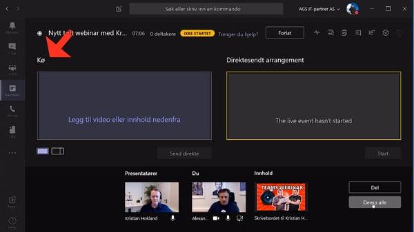 Hvordan sette opp Live Event og Webinar med Microsoft Teams 07