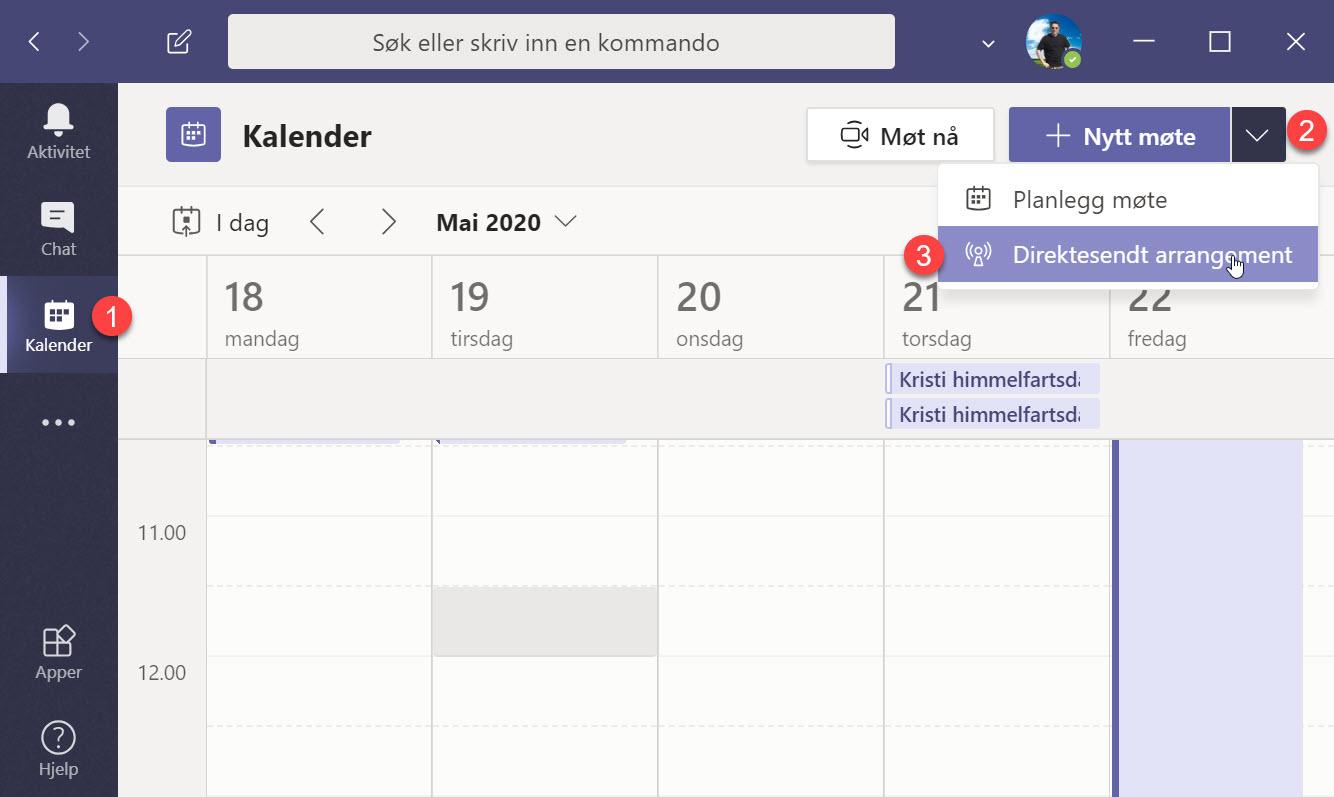 Hvordan sette opp Live Event og Webinar med Microsoft Teams 1