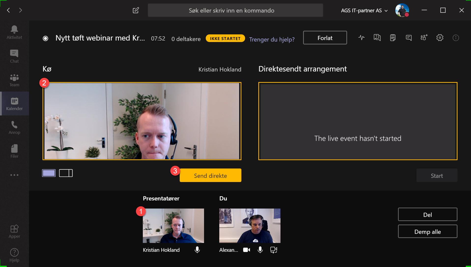 Hvordan sette opp Live Event og Webinar med Microsoft Teams 11