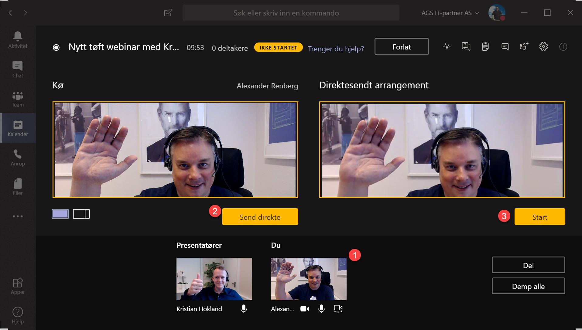 Hvordan sette opp Live Event og Webinar med Microsoft Teams 12-1