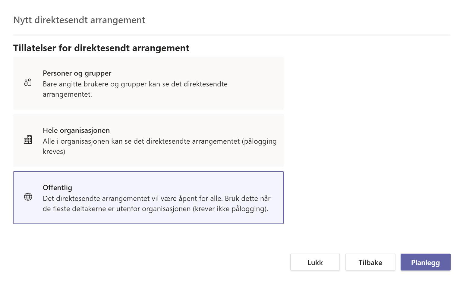 Hvordan sette opp Live Event og Webinar med Microsoft Teams 6