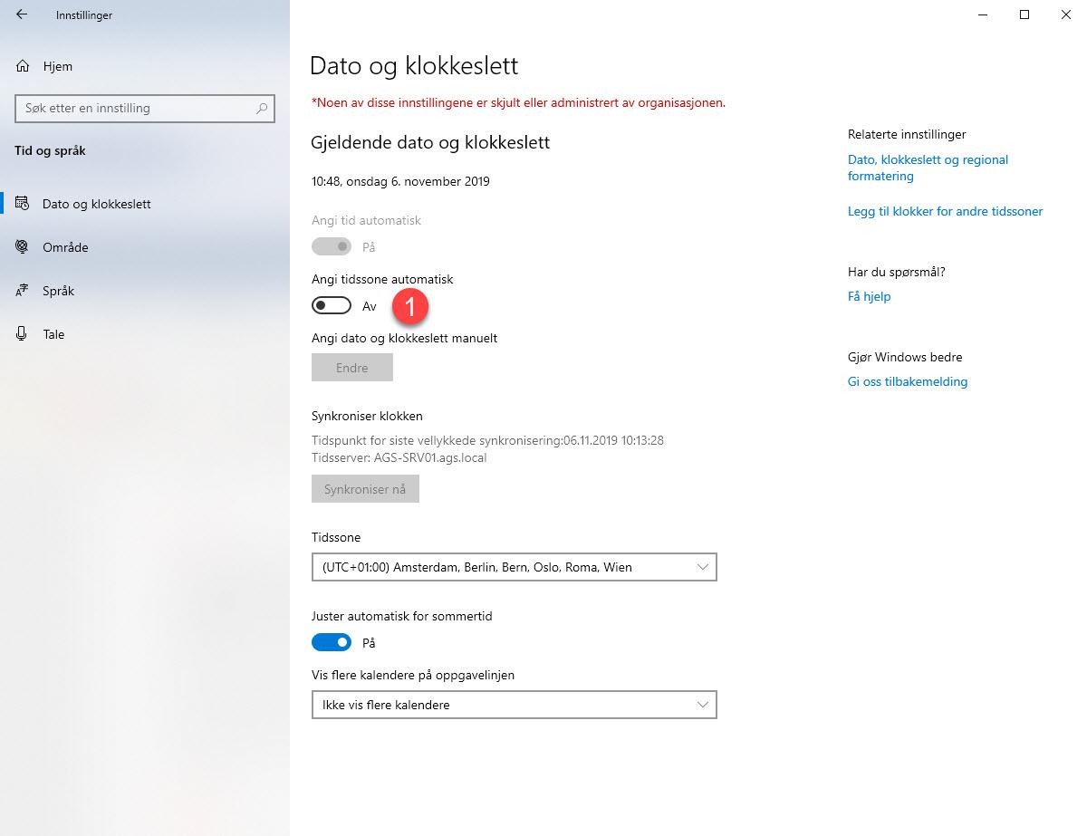 Hvordan sette opp automatisk tidssone i Windows 3