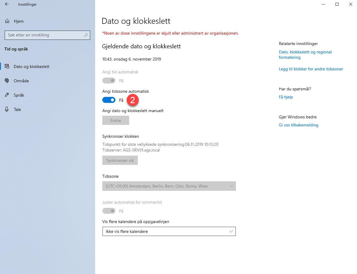 Hvordan sette opp automatisk tidssone i Windows 4