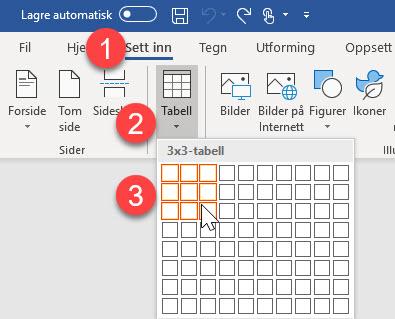 Hvordan summere tall i en tabell eller kolonne i Word 2