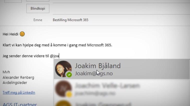 Hvordan tagge andre i en Outlook e-post 4