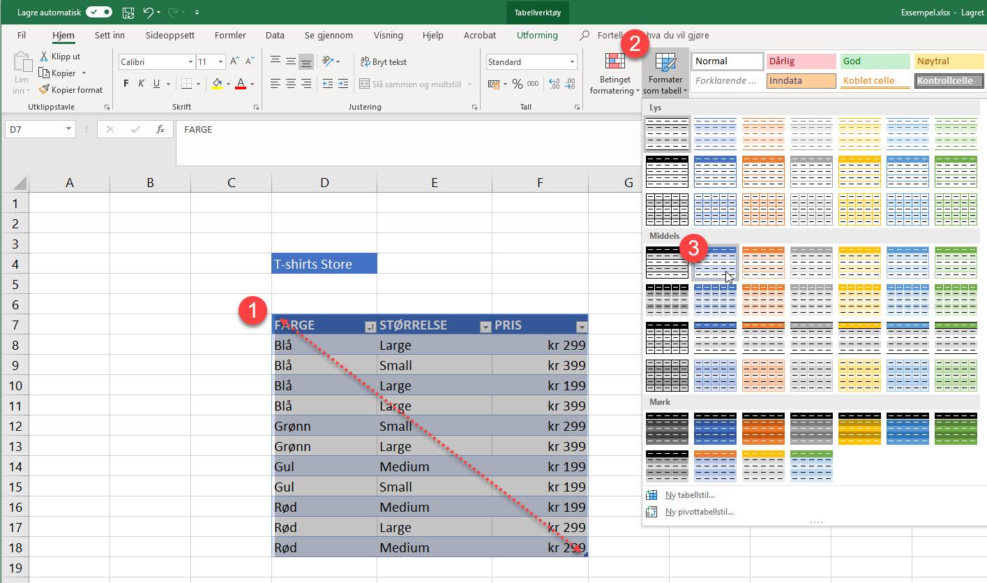 Magisk Excel Triks - Slik bruker du Slicer funksjonen