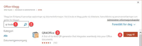 Microsoft 365 - Hvordan lage QR kode GRATIS i Word og PowerPoint 3