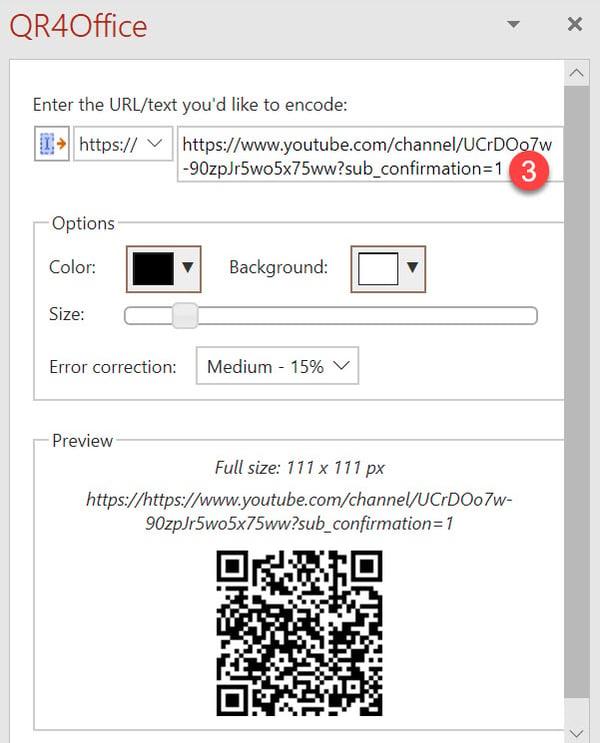Microsoft 365 - Hvordan lage QR kode GRATIS i Word og PowerPoint 7