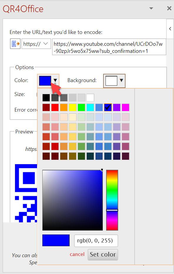 Microsoft 365 - Hvordan lage QR kode GRATIS i Word og PowerPoint 8
