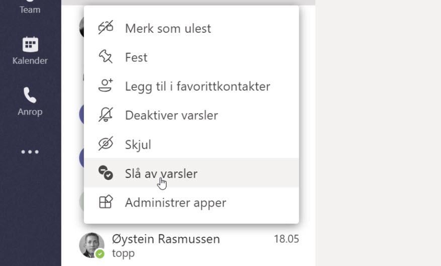 Microsoft Teams - Få varsel når din kollega er tilgjengelig 6