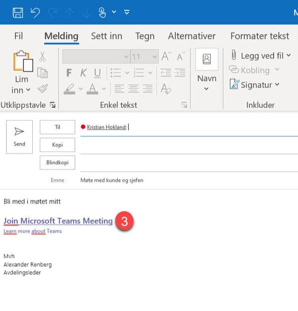 Microsoft Teams - Hvordan bruke MØT NÅ funksjonen til å opprette møter umiddelbart 7-1
