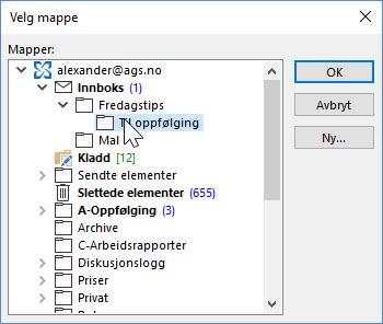 Outlook triks - Hvordan lage til oppfølging funksjon i Outlook 4