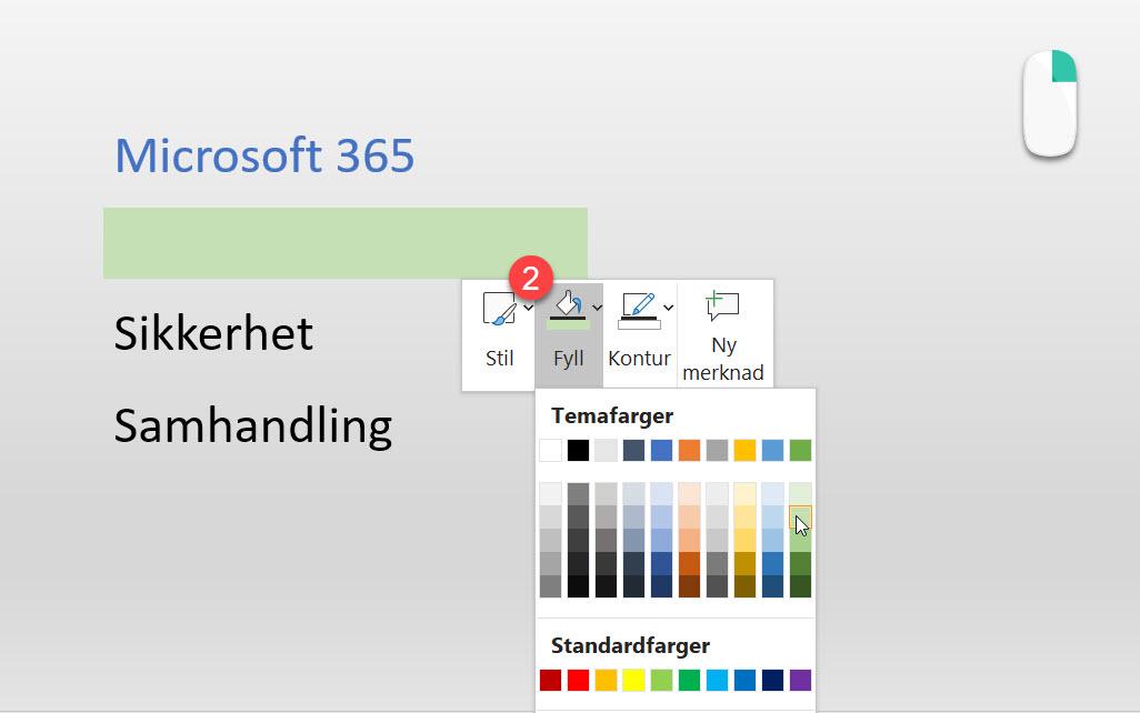 Slik bruker du farger i PowerPoint for å fremheve informasjon 5