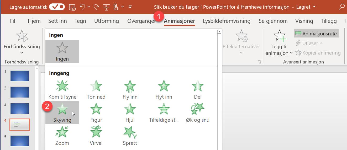Slik bruker du farger i PowerPoint for å fremheve informasjon 7