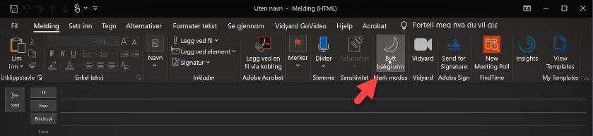 Slik bruker du forbedret dark mode i Outlook 10