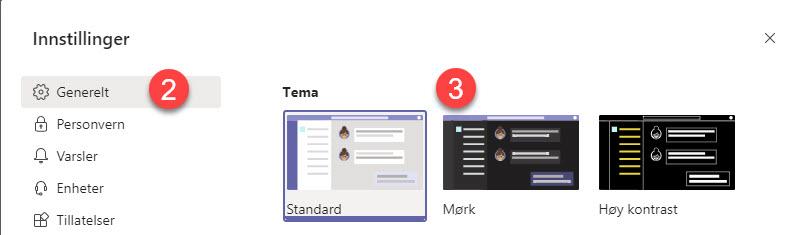 Slik bruker du forbedret dark mode i Outlook 6