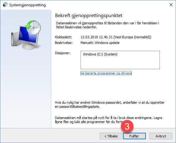 Slik kan Windows systemgjenoppretting redde dagen din 10
