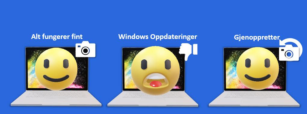 Slik kan Windows systemgjenoppretting redde dagen din 11