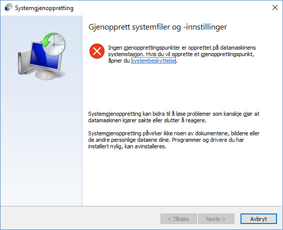 Slik kan Windows systemgjenoppretting redde dagen din