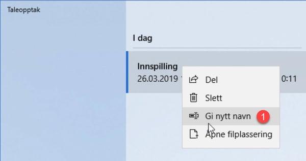 Slik lager du taleopptak til tilbud GRATIS i Windows 10 6