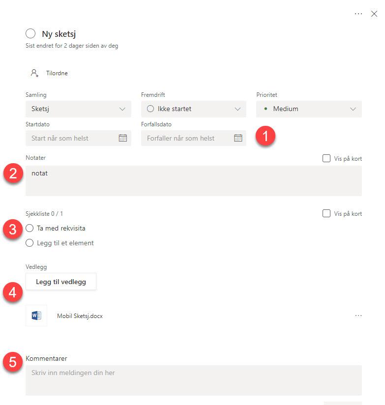 Tips til hvordan du kan bruke Microsoft Planner 11-1