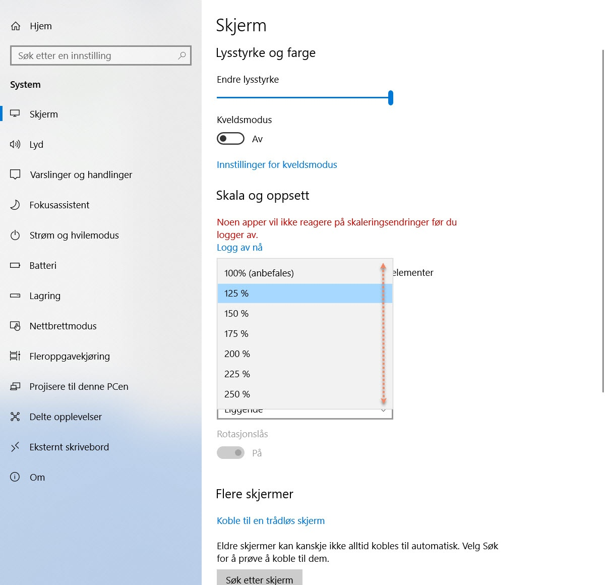 Hvordan endre skriftstørrelsen i Windows 10