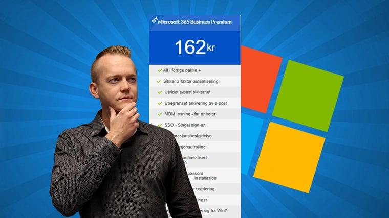 Hva øker prisen på Microsoft 365 3