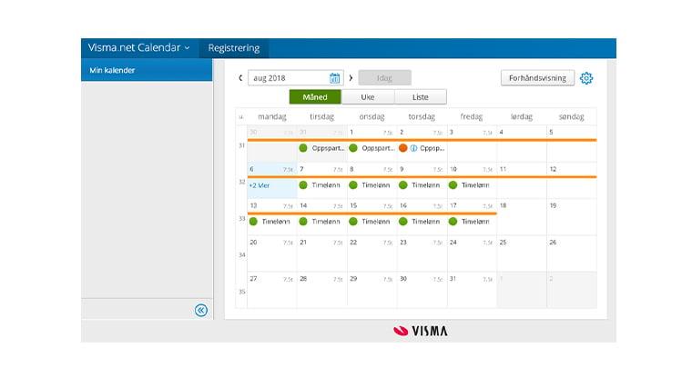 Hva er Visma.net Calendar -kalender