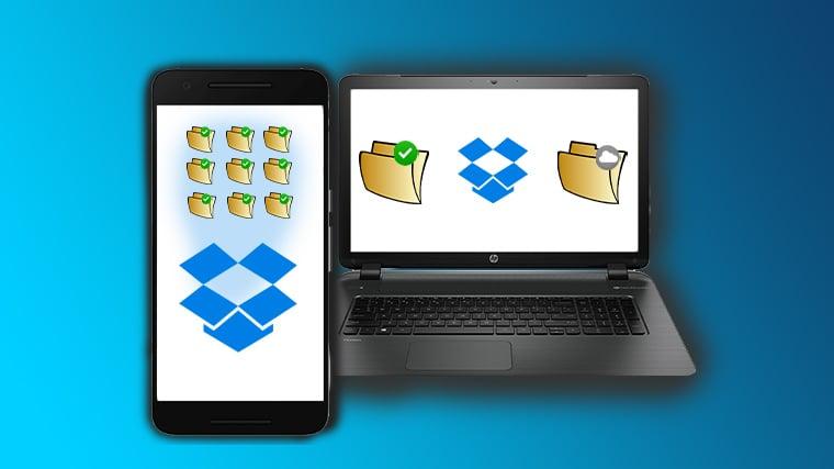 Hvordan bruke smart synkronisering i Dropbox (BILDE 1-3.)