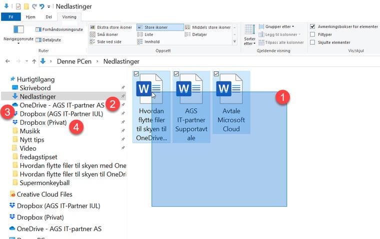 Hvordan flytte filer til skyen med OneDrive eller Dropbox 5