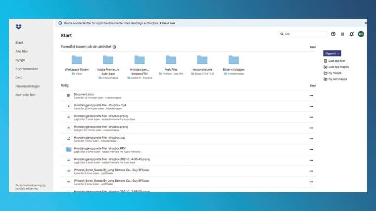 Hvordan gjenopprette filer i Dropbox 2