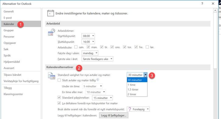 Hvordan lage automatisk pause mellom møter i Outlook. 3