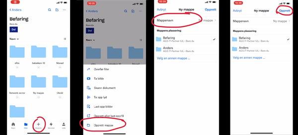 Hvordan lagre bilder i Dropbox for Bedrifter med mobilen 1