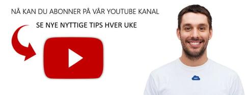 Følg med på Youtube kanalen vår